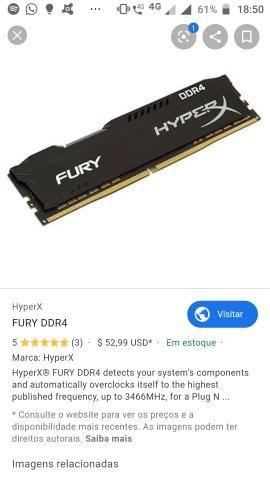 Memória hyperx 8gb DDR4 2400mhz cl15 - Foto 2
