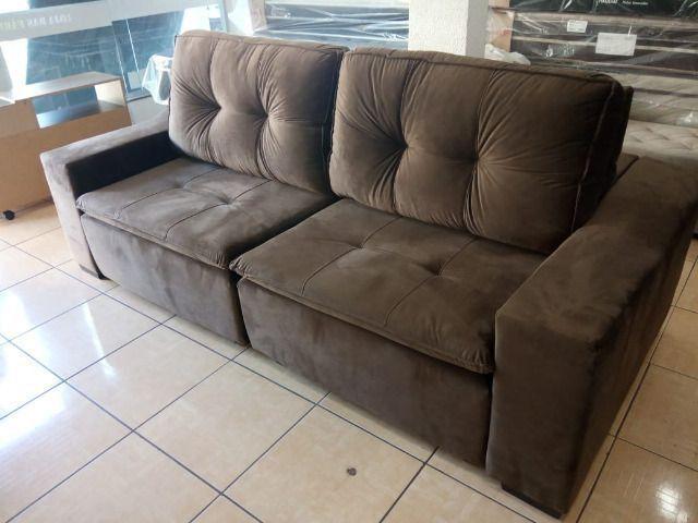 Sofa reto 2,50 retrátil e reclinável - Foto 4