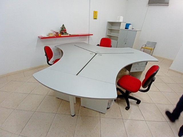 "Mesa Escritorio angular 120° 3 unidades(ilha), usadas, ""Bortolini"" - Foto 2"