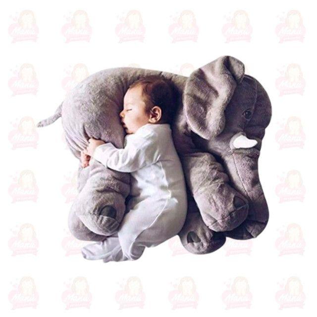 Almofadas para bebês elefante 60cm - Foto 4