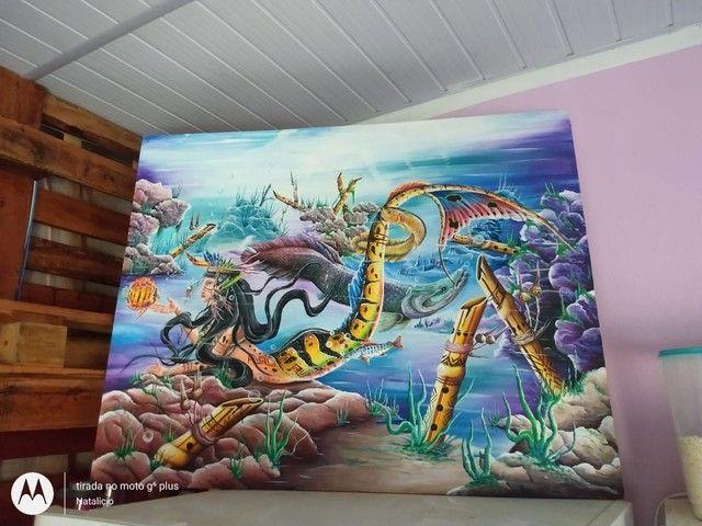 Vendo duas telas do Artista Amazonense Renomado - Foto 3