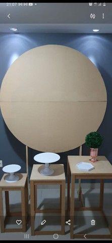 Aluguel de painel e mesas decorativas