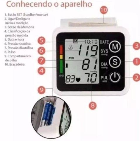 (NOVO) Medidor de pressão de pulso - Foto 3