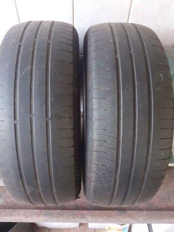 Pneus 195/60 R 15 Michelin meia vida - Foto 2