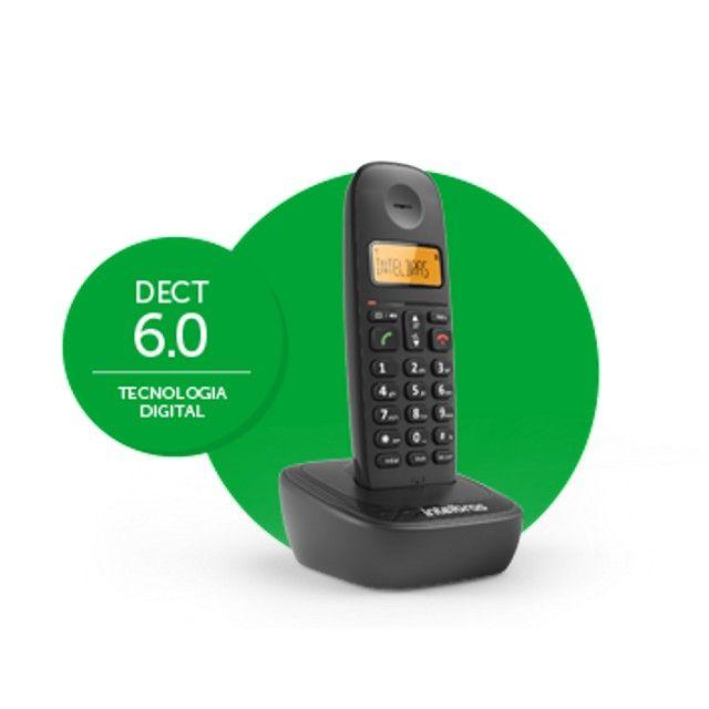 Telefone sem fio Intelbras TS 2510 preto - Foto 2