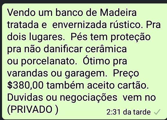 Banco de Madeira Rústico ...
