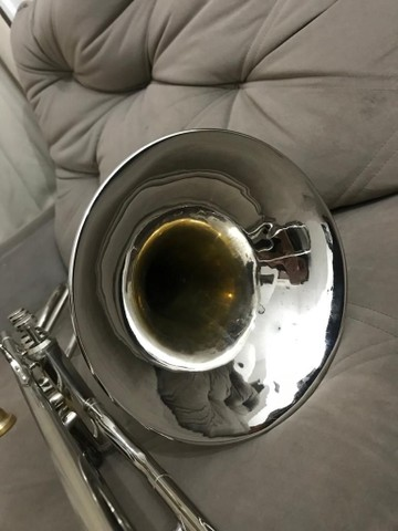 Trombone em sib shelter niquelado top  - Foto 5