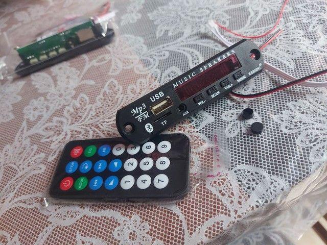 Placa mp3 via Bluetooth  com controle remoto