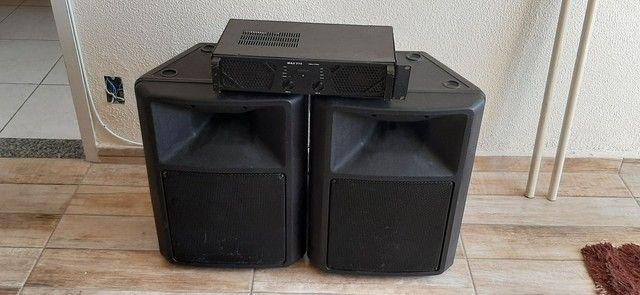 Kit amplificador + 2 caixas de som - Foto 3