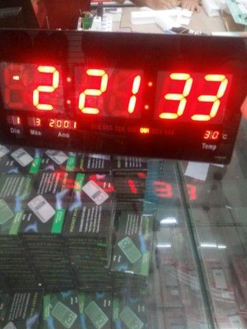 Relógio digital de parede 45cm pôr 21cm(entrega grátis para jp)