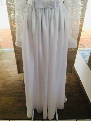 Vestido de noiva NOVO gazar e renda - Foto 3