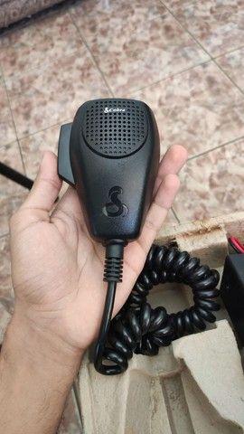 Rádio amador Cobra 19 Ultra III (3) + Antena top novos - Foto 3