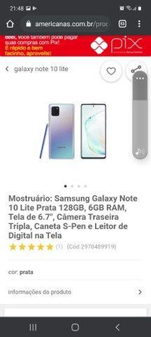 Samsung Galaxy Note 10 Lite Prata