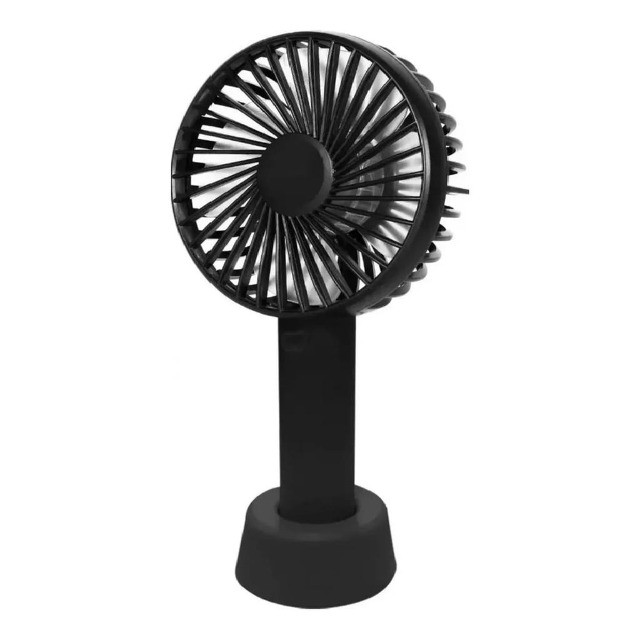 mini ventilador handy mini fan portátil mão usb recarregável 5.0 - Foto 2