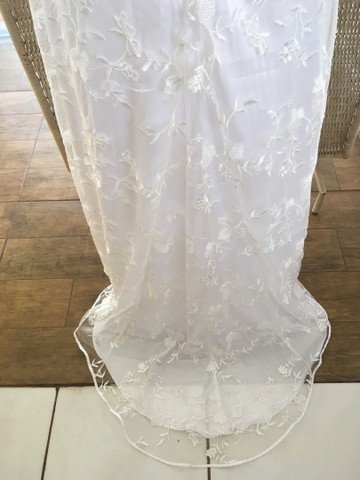 Vestido de noiva NOVO renda manga - Foto 6