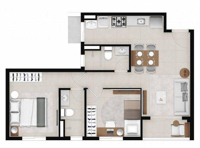 Apartamento para venda com 48 metros quadrados com 2 quartos - Foto 19