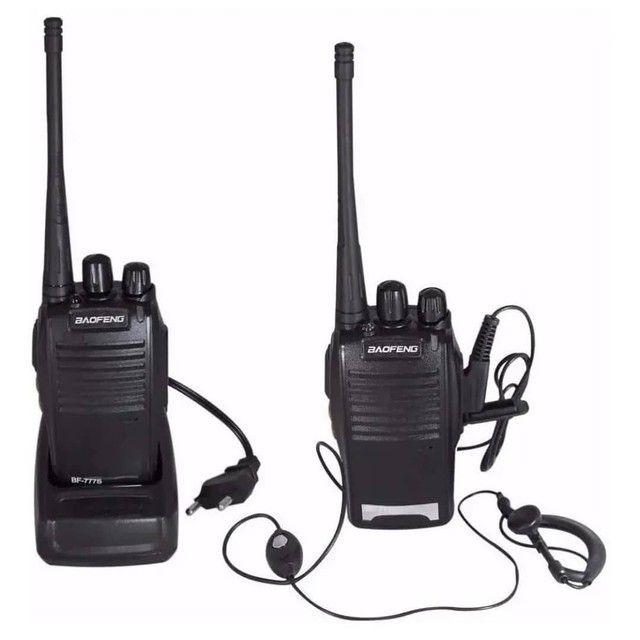 Kit 2 Radio Comunicador Walk Baofeng 777s  C/ Fone - Foto 2