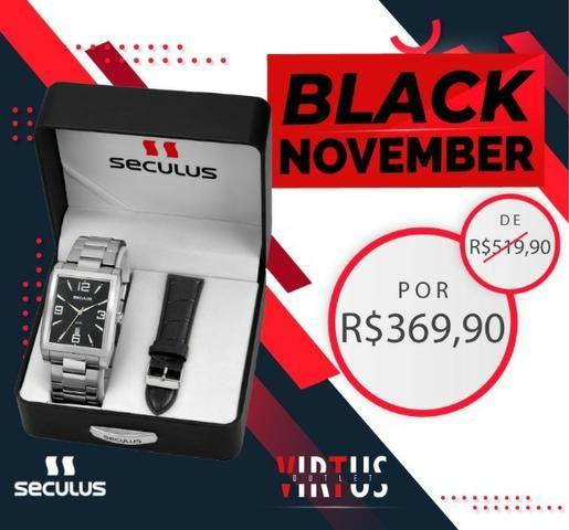 Mega Promoção Relógio Seculus, Masculino, Original, Garantia, Aço Inoxidável - Foto 4