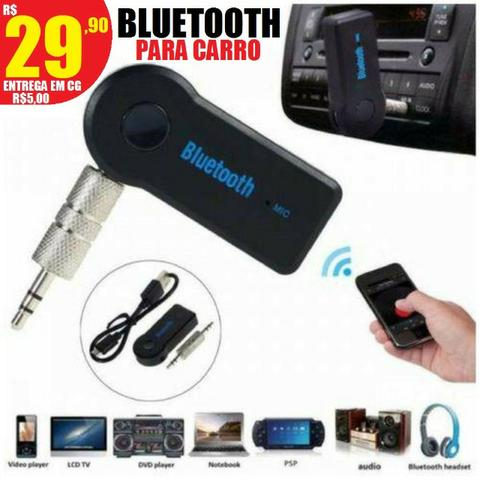 Som adaptador Bluetooth para carro (entrega em toda CG)