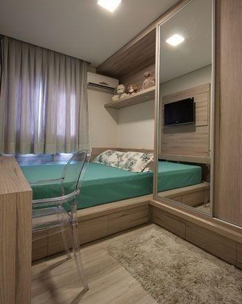 Cama nova Casal Solteiro Quarto Barato MDF Planejado Modulado
