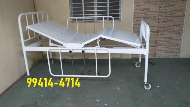 Cama Hospitalar 02 Manivelas 04 Movimentos Venda * - Foto 5
