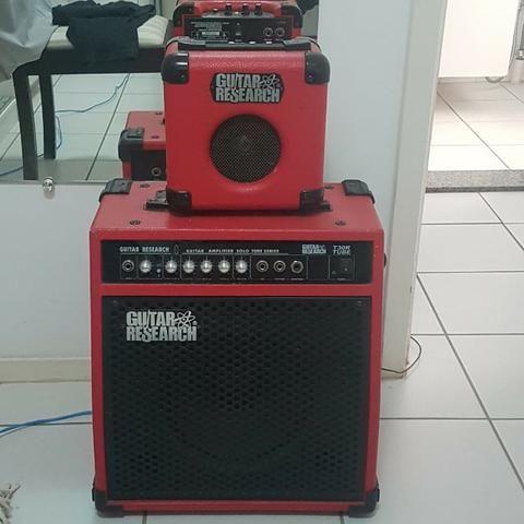 Cubo GuitarResearch 40W Pré Valvulado Reverb de mola - Foto 6