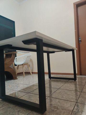 Mesa jantar estilo industrial - Foto 3