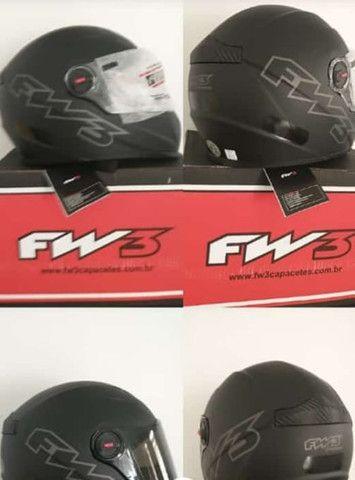 Capacete Top FW3 Classic Premium (viseira extra fumê) - Foto 7
