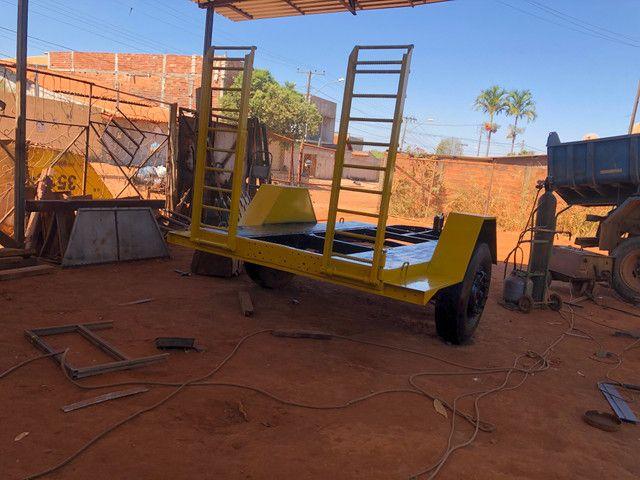 Fabricação de carreta para bobcat - Foto 4