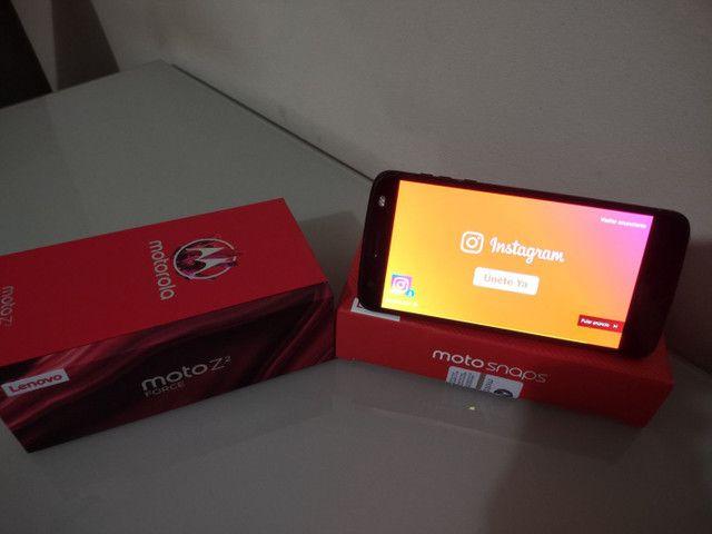 Celular Motorola Z² Force + Snap JBL c/ Bateria e tela na garantia - Foto 4