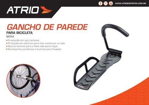 Suporte De Parede Para Bicicleta C/ Gancho Atrio Bike Bi054