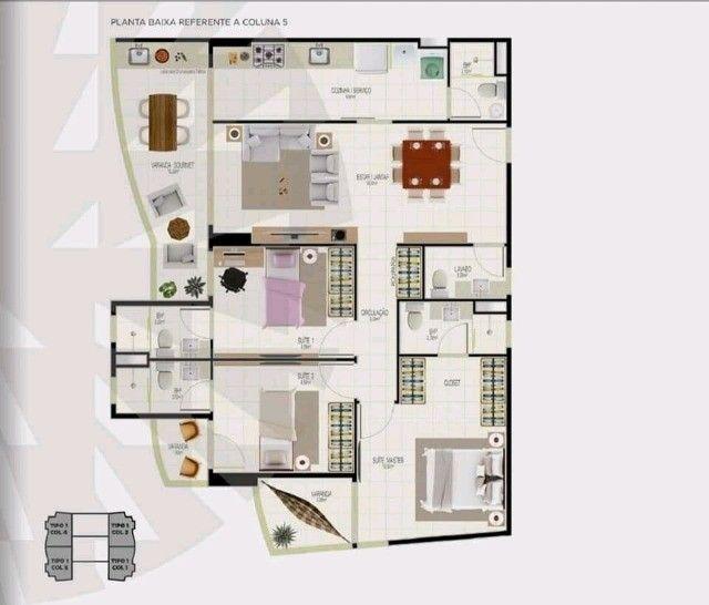 86/ Apartamento à venda de  106m² vista mar. - Foto 2
