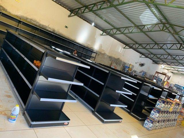 Gondolas pretas para supermercados/mercearia - Foto 2