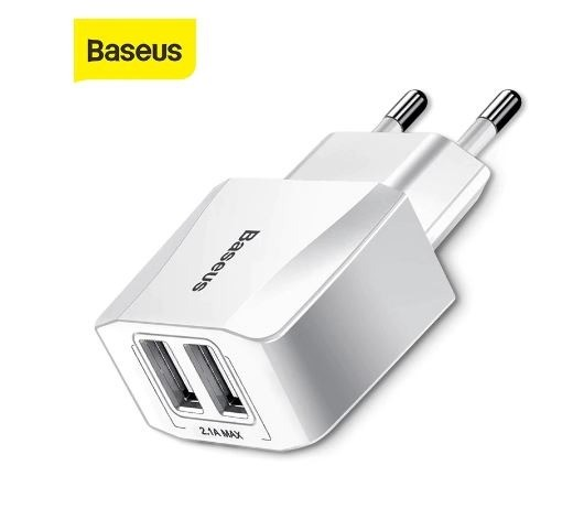 Carregador rápido de 2,1A duplo USB, portátil / Baseus