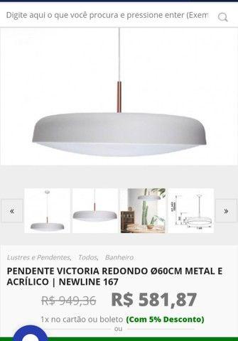 Luminária Redonda 60 cm - Foto 5