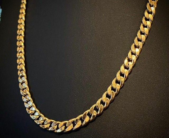 Cordões e correntinhas - piastrine ou cártier em ouro 18 quilates derretido. - Foto 3