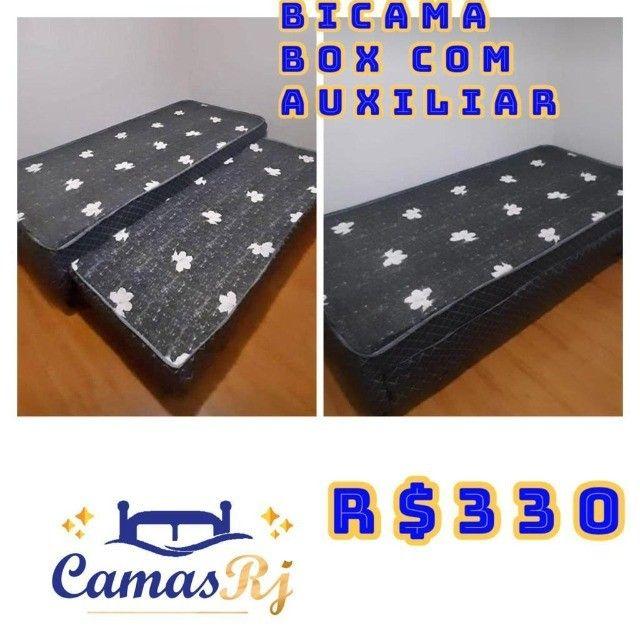 cama box casal solteiro - Foto 6