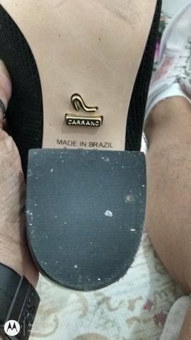 Bota preta cano curto (material stretch) - Foto 5