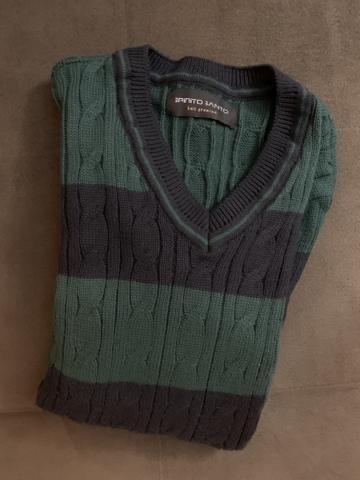 Casaco de lã em gola V - Foto 2