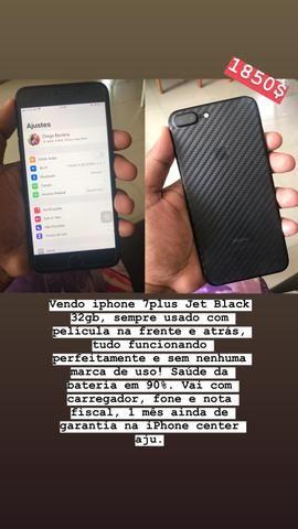 Vendo iphone 7plus jet black 32gb