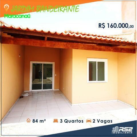 Casa Plana de 3 Quartos - Jardim Bandeirante - Documentos Inclusos - Foto 3