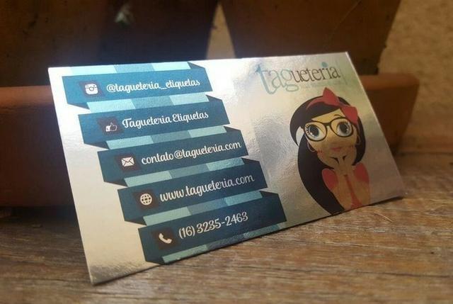 Cartão Papel Metal Premium Milheiro Valor Promocional Produto Muito Sofisticado - Foto 2