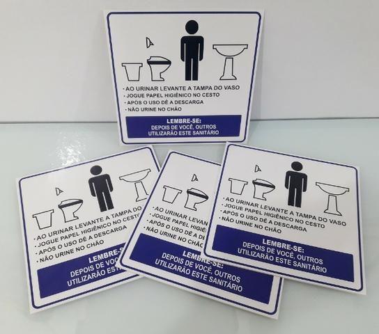 Placas de Sinalização e Informativas em PVC Com Qualidade É Aqui - Foto 5