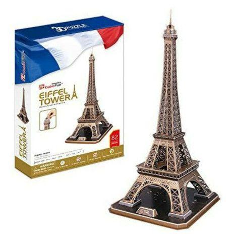 Quebra Cabeça 3D Torre Eiffel - Cubic Fun