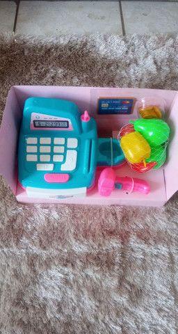 Caixa registradora de brinquedo e.demais itens