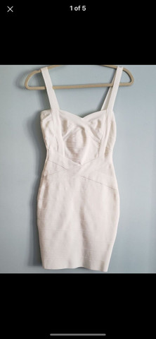 Vestido bandagem branco