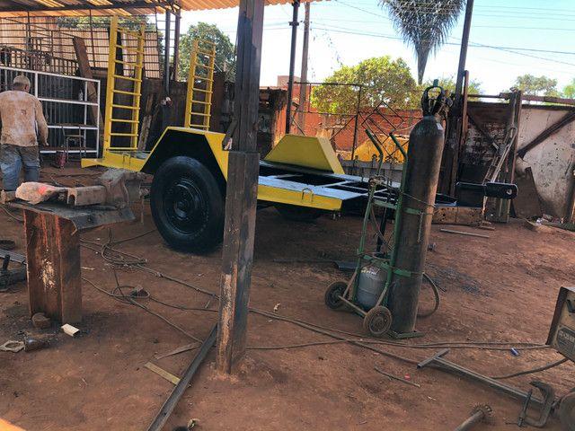 Fabricação de carreta para bobcat - Foto 5