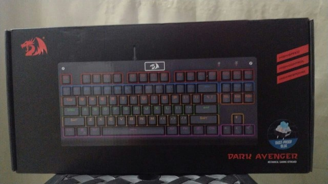 Teclado Gamer Redragon Dark Avenger Rainbow Switch Azul - Foto 3