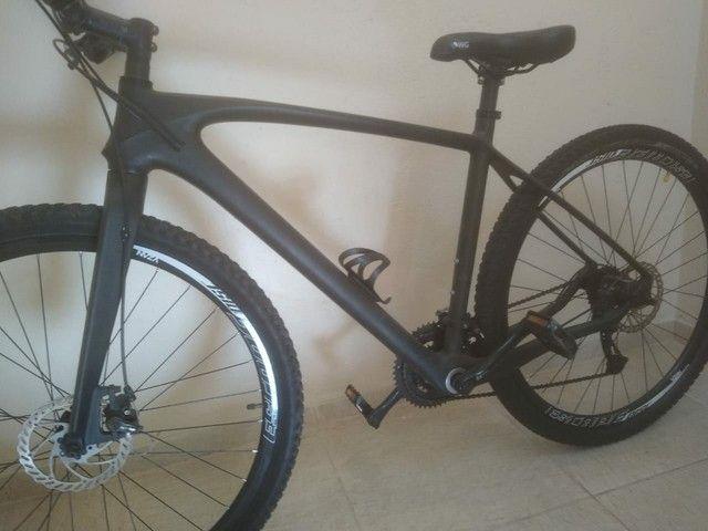 Bike fibra de carbono fosco miracle, tam 21' aro 29' - Foto 5