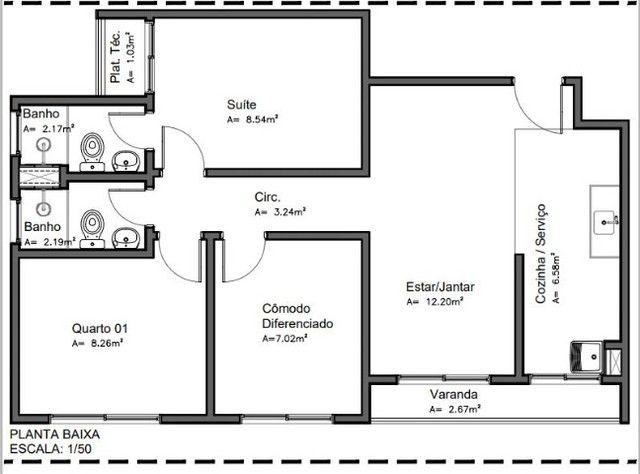 Apartamento de 2 e 3 quartos no Parque 10 - Foto 11
